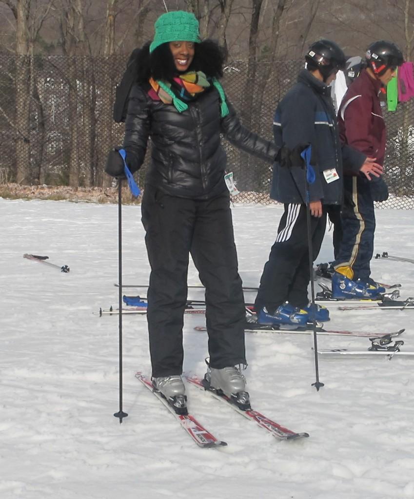 Ski post 1