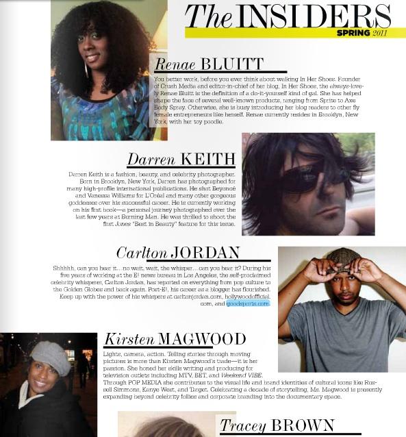 Jones Mag Contributors Spring 11