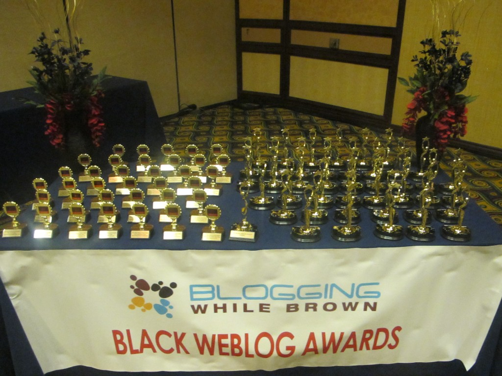 BWA Awards on table