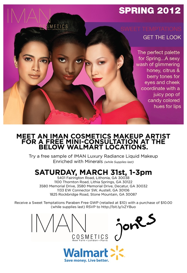 Jones IMAN cosmetics event