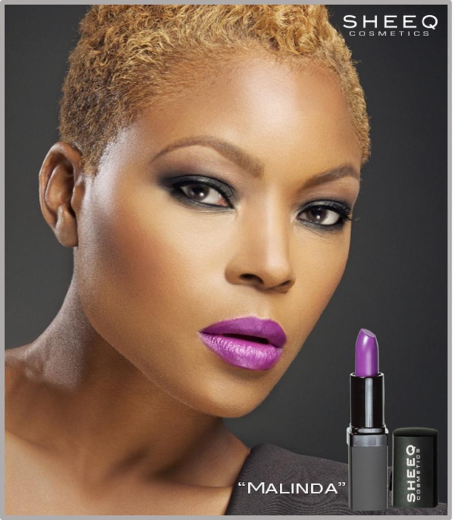 Melissa Purple lip ad