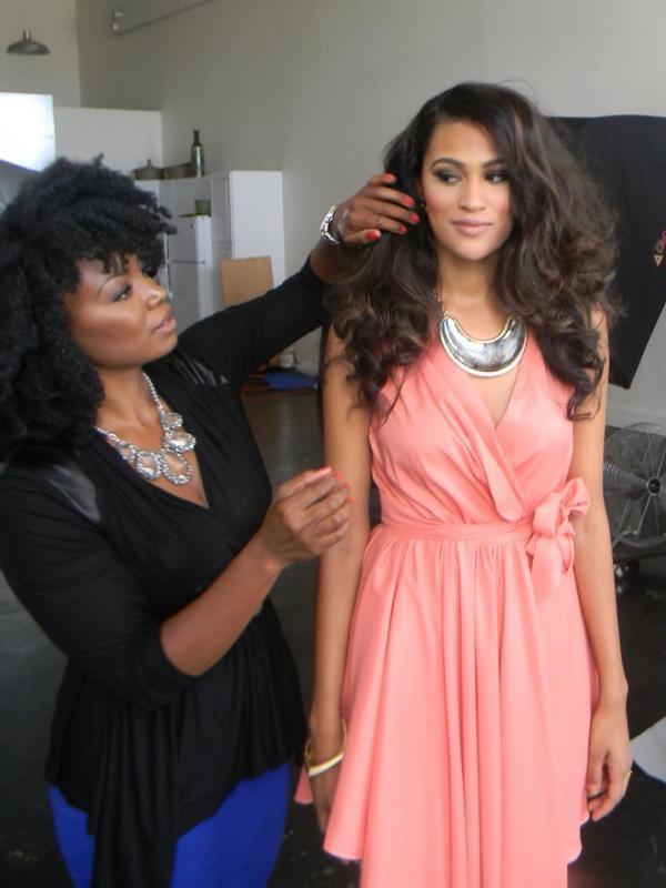Melissa with model, Natalie Gouche