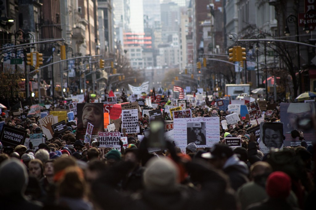 Millions March image large crowd