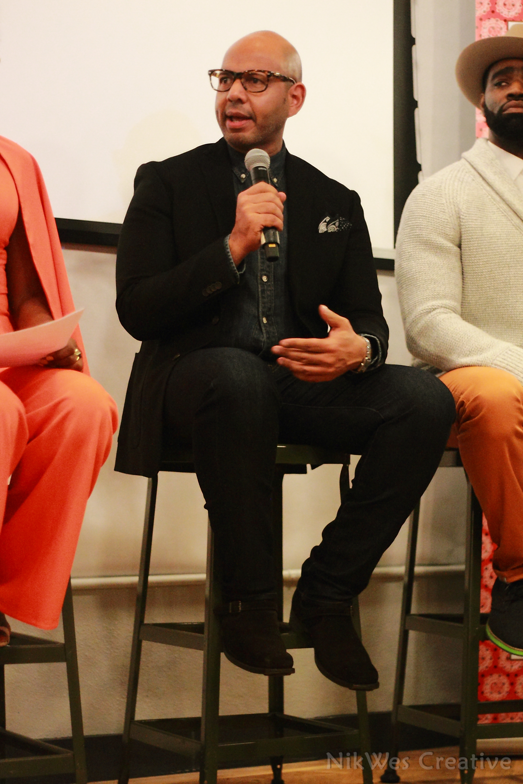 In His Shoes Event Emil with Mic