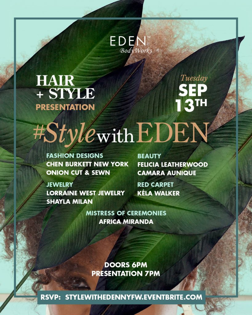 EDEN Style with EDEN NYFW INVITE